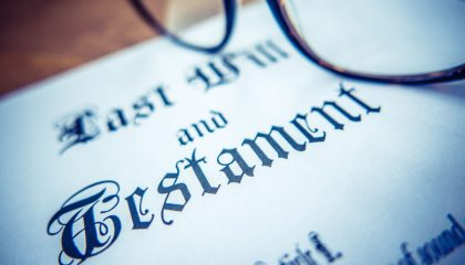 A generic last will and testament.