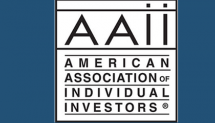 AAII Logo against blue background